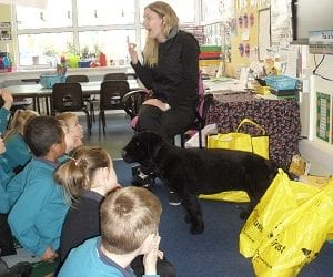 River Mead children welcome Dogs Trust for whole school assembly